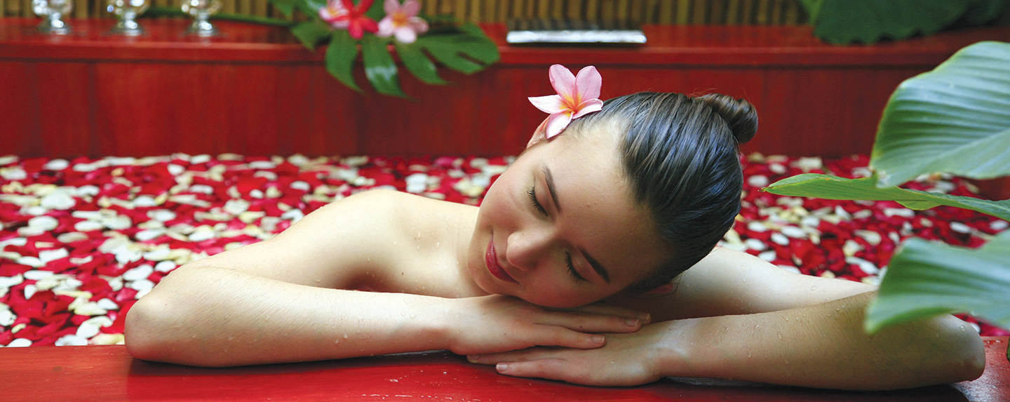 Woman enjoying spa at Kenko Wellness