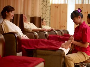 Therapist performing Foot Massage at Kenko Wellness Spa