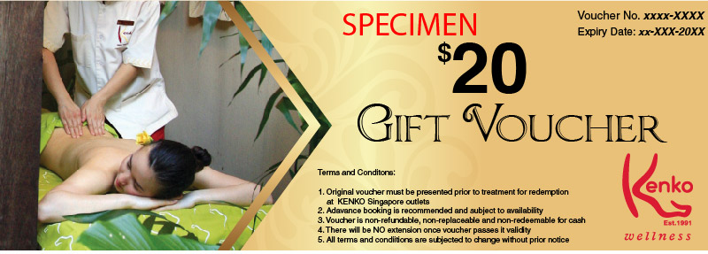 $20 Gift Voucher at Kenko Wellness Spa