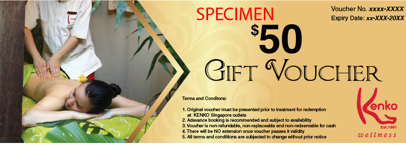 $50 Gift Voucher at Kenko Wellness Spa