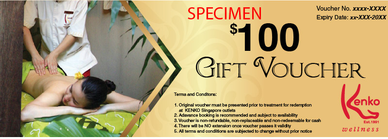 $100 Gift Voucher at Kenko Wellness Spa